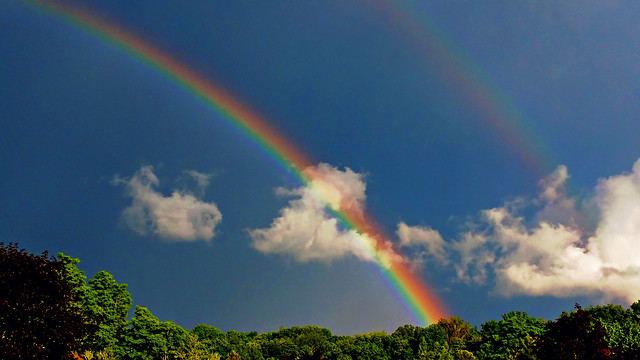 rainbow-no-person-weather-sky-landscape picture material