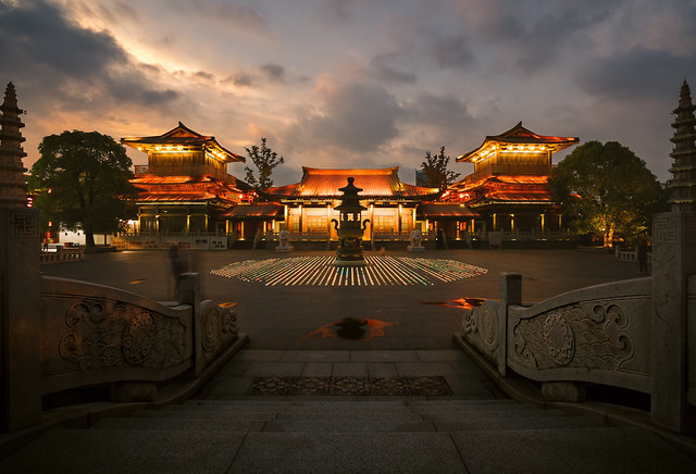 sunset-travel-temple-dawn-sky 图片素材