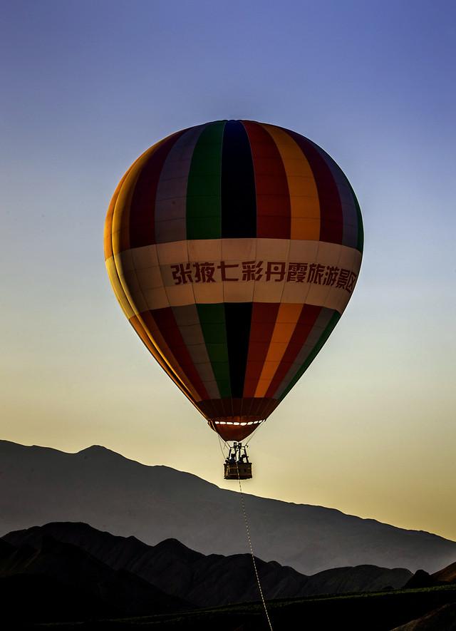 hot-air-ballooning-hot-air-balloon-no-person-travel-balloon picture material