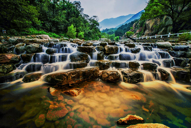 water-waterfall-river-nature-landscape picture material