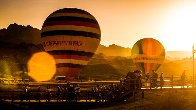 balloon-travel-sunset-hot-air-balloon-sky 图片素材