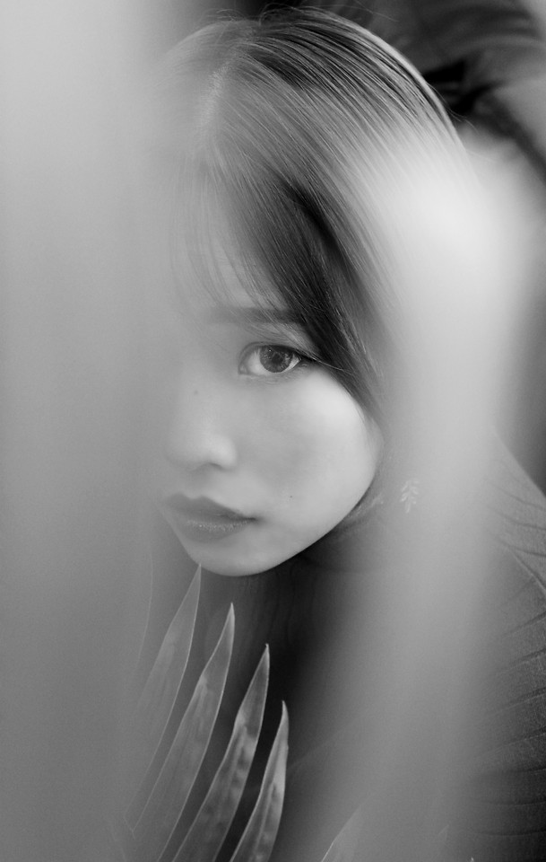 monochrome-portrait-woman-girl-fashion 图片素材