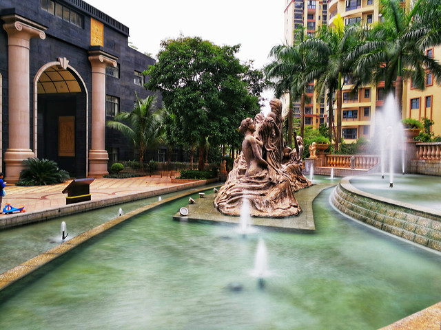 travel-luxury-architecture-fountain-hotel picture material