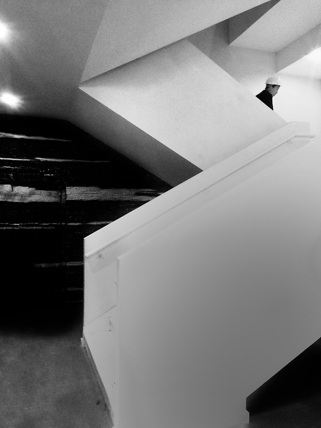 monochrome-light-indoors-step-room picture material