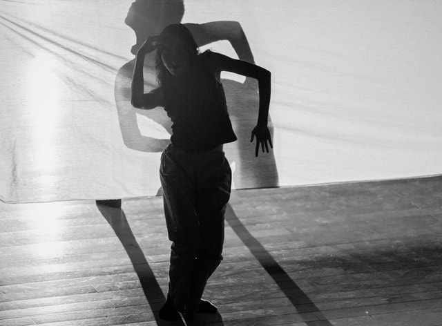 dance-black-and-white-white-black-standing picture material