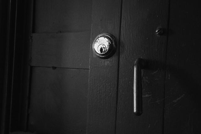 door-lock-black-security-dark picture material