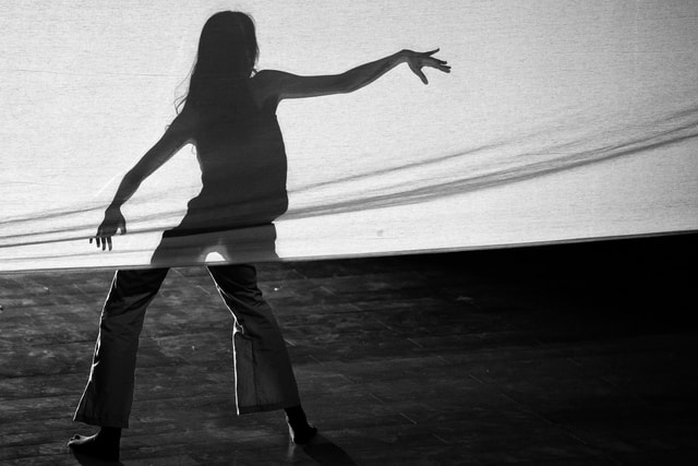 dance-black-and-white-black-black-and-white-standing picture material