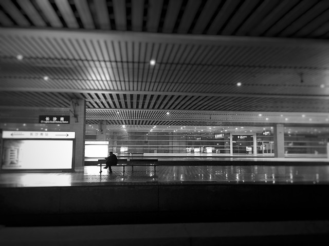 airport-subway-system-city-architecture-monochrome picture material