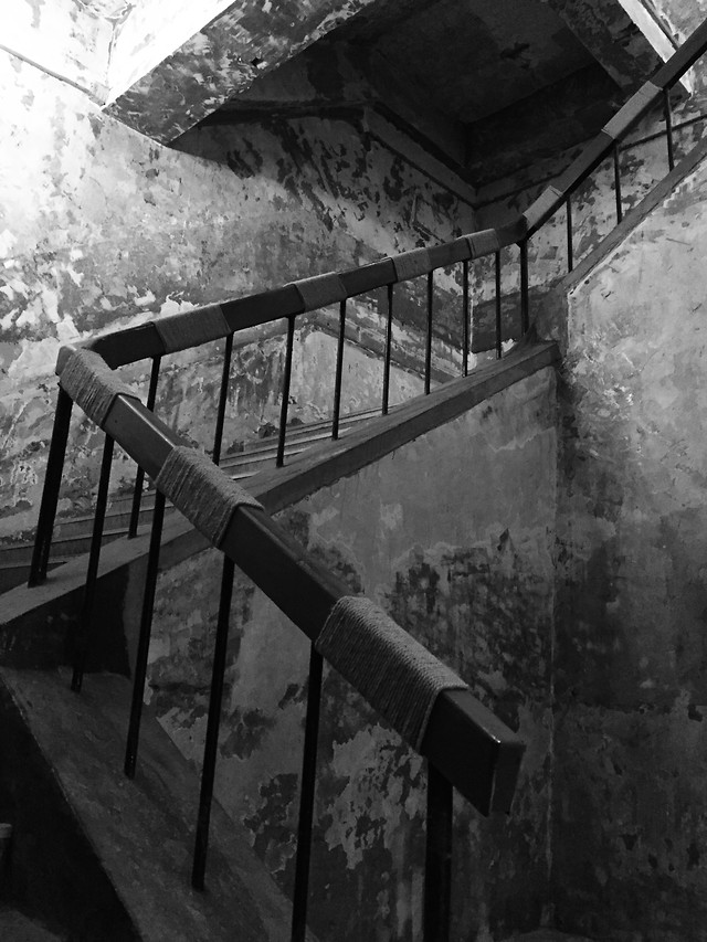 no-person-step-monochrome-abandoned-architecture picture material