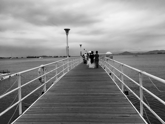 bridge-sea-sky-boardwalk-ocean picture material