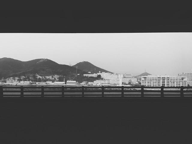 fog-landscape-nature-black-bridge picture material