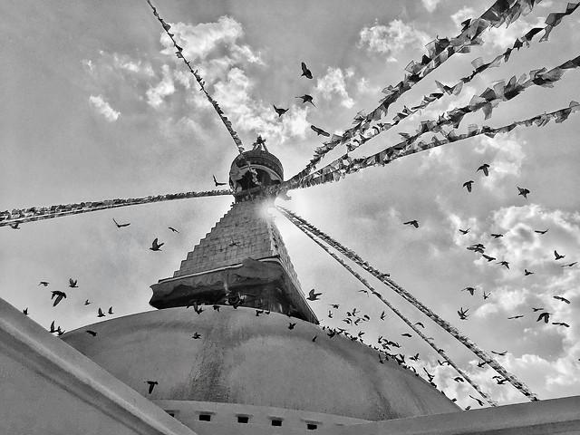 sky-no-person-black-white-city-travel 图片素材