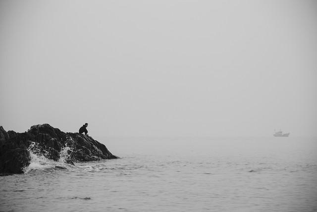 water-sea-beach-landscape-fog picture material