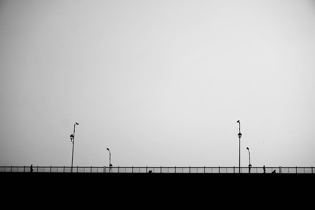 silhouette-sky-light-fog-black picture material