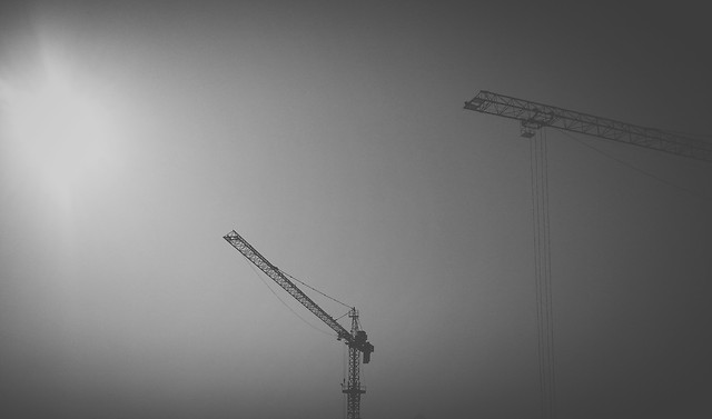expression-industry-silhouette-sky-crane picture material