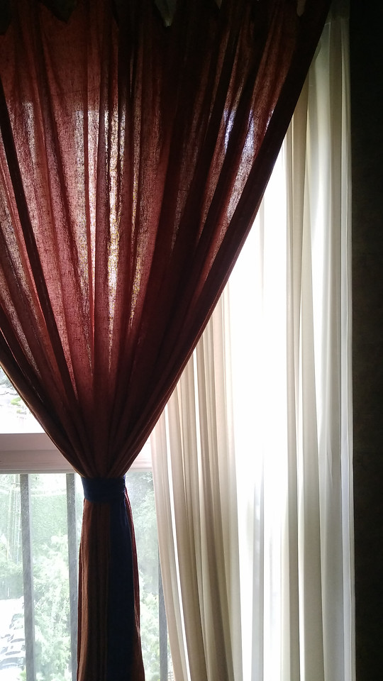 no-person-red-curtain-indoors-one picture material