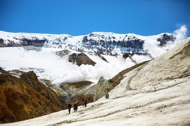 kamchatka-volcano-mountainous-landforms-mountain-glacial-landform 图片素材