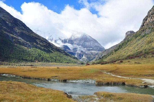 sichuan-daocheng-yading-mountainous-landforms-mountain-highland 图片素材
