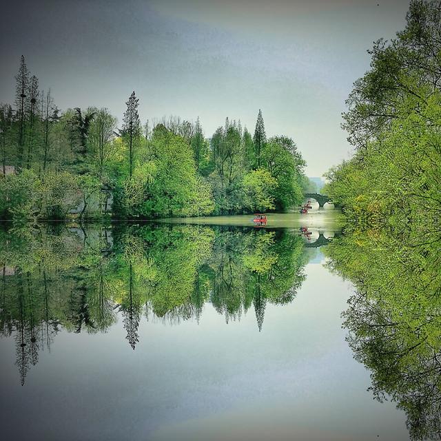 reflection-lake-tree-water-river 图片素材