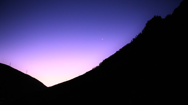 no-person-sunset-moon-sky-dusk picture material