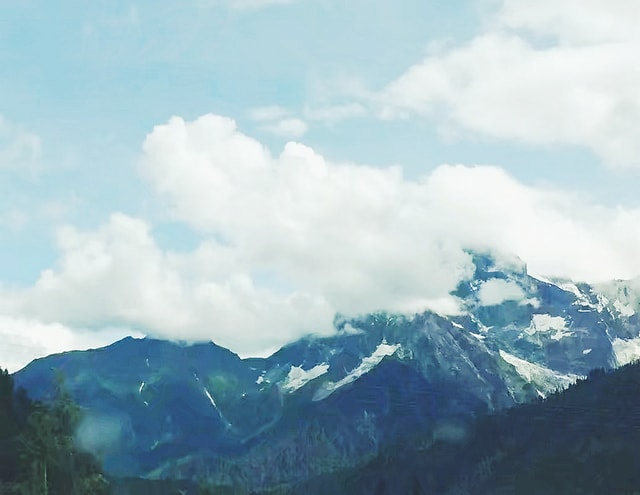 mountainous-landforms-mountain-sky-highland-mountain-range 图片素材
