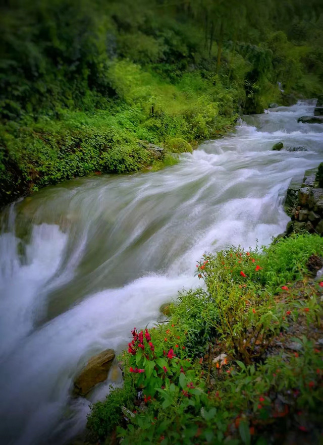 waterfall-water-river-no-person-stream picture material