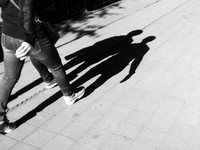 street-monochrome-people-pavement-man picture material