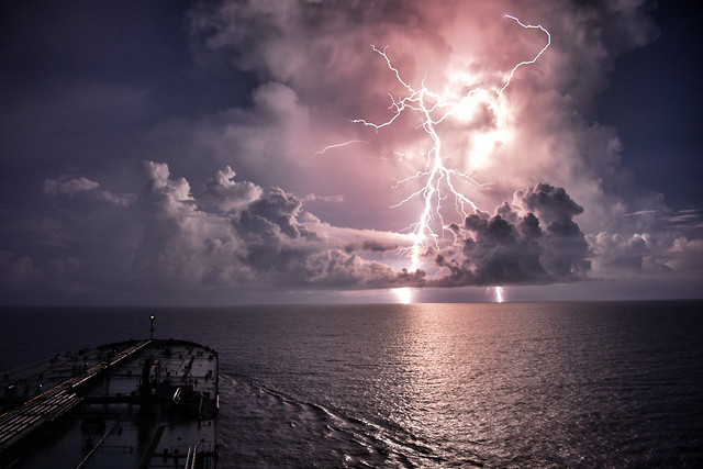 sunset-water-storm-sky-sea picture material