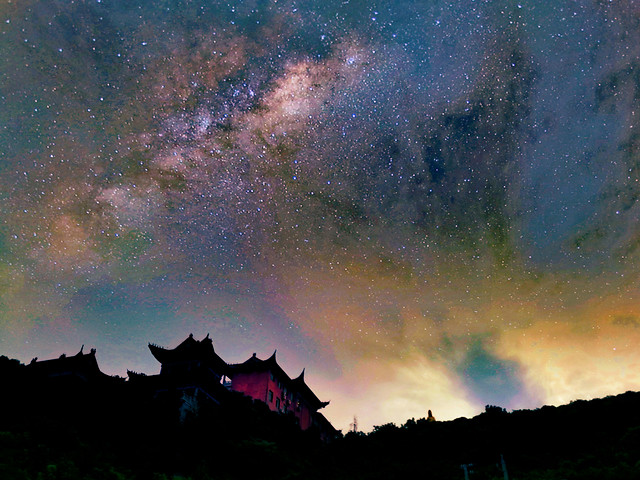 astronomy-galaxy-sky-moon-landscape picture material
