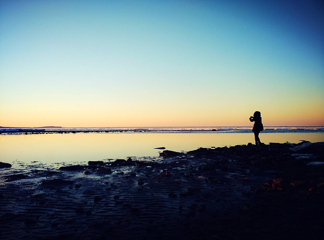 sunset-beach-dawn-water-sea picture material