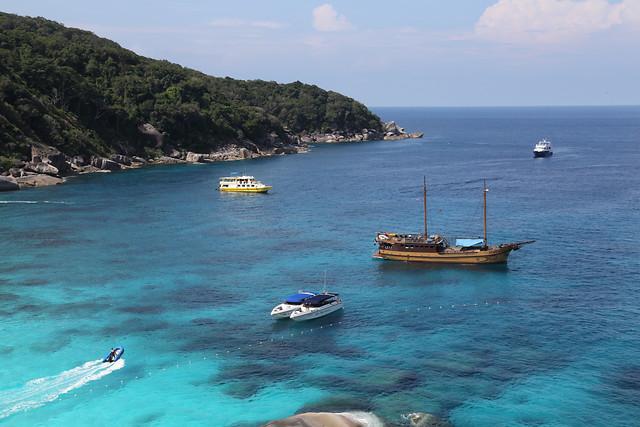 sea-water-ocean-island-boat picture material