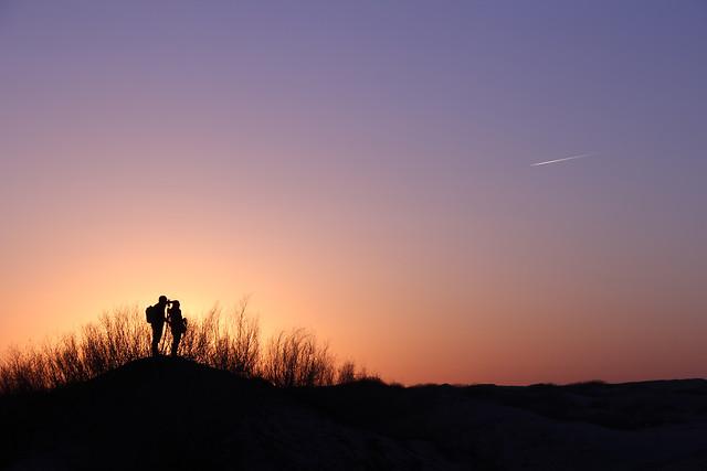 sunset-dawn-evening-backlit-landscape picture material
