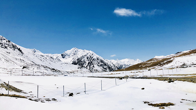 snow-mountain-winter-mountain-peak-cold picture material