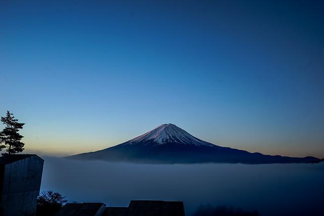 no-person-volcano-mountain-snow-sunset 图片素材