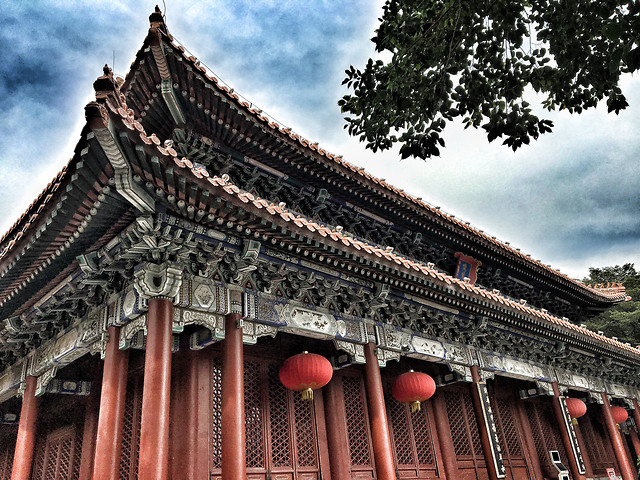 chinese-architecture-architecture-temple-building-travel picture material