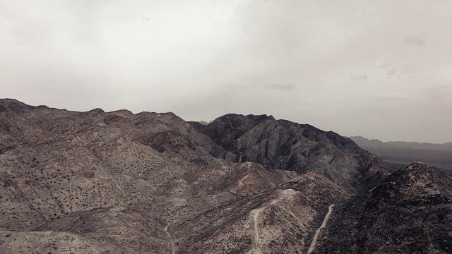 mountainous-landforms-ridge-mountain-badlands-sky picture material