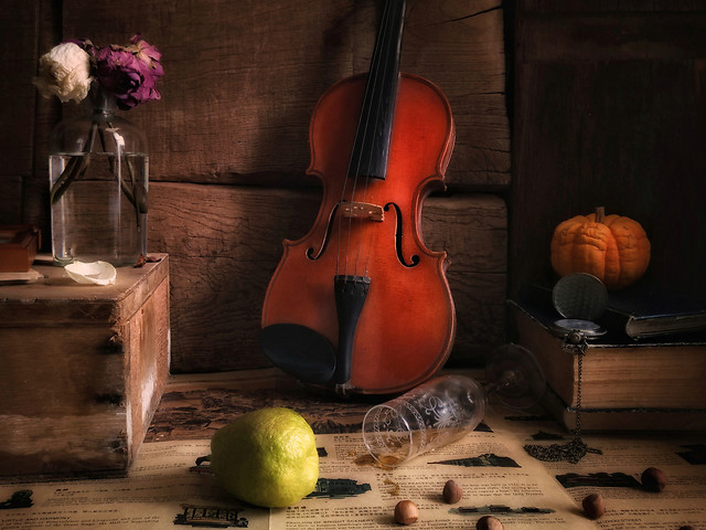 wood-violin-no-person-music-classic picture material