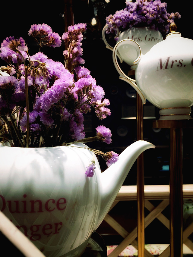 no-person-flower-coffee-purple-cup 图片素材