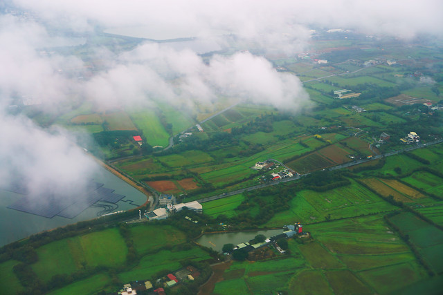 landscape-airplane-cropland-travel-aerial-photography picture material