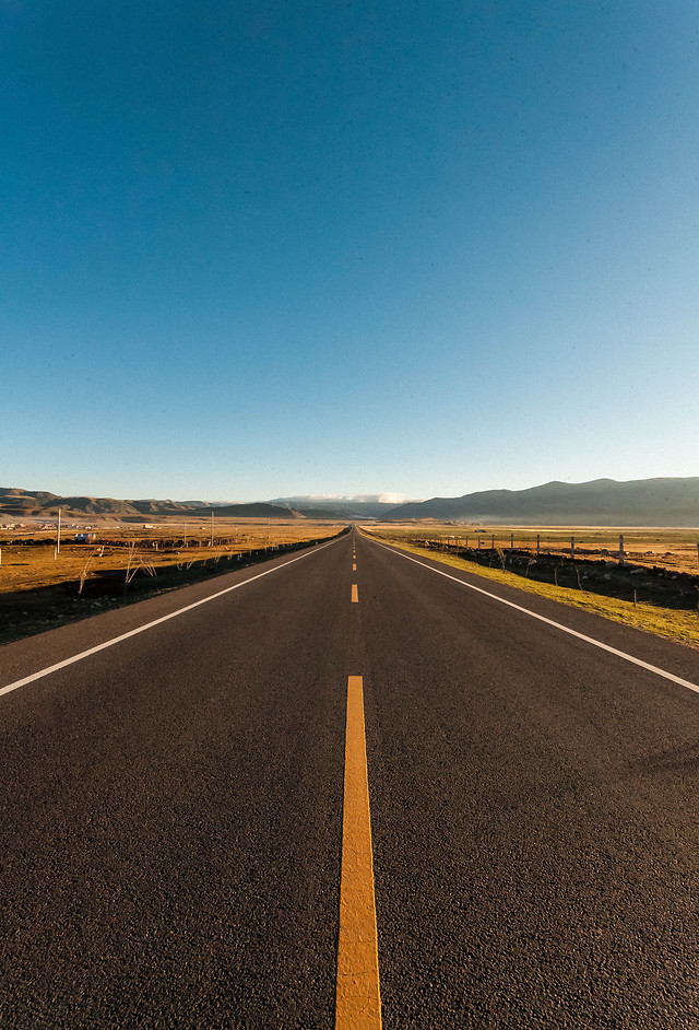 road-asphalt-sky-highway-horizon picture material