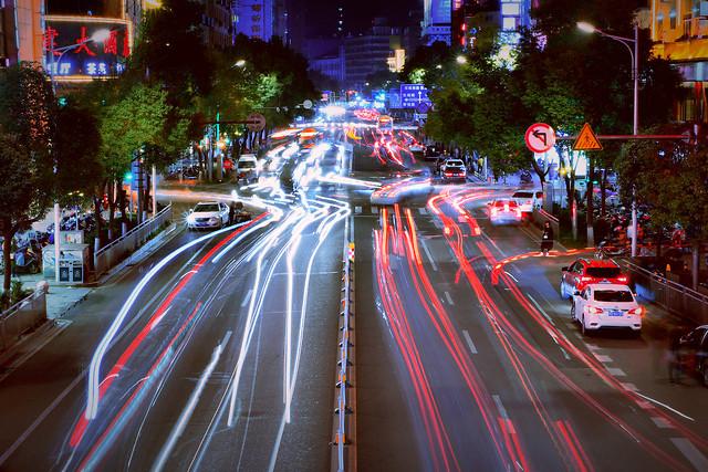 street-road-car-traffic-blur 图片素材