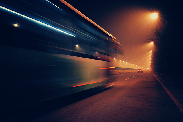 blur-street-road-highway-evening picture material