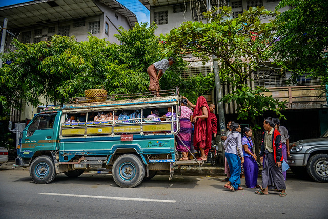street-vehicle-road-city-people picture material
