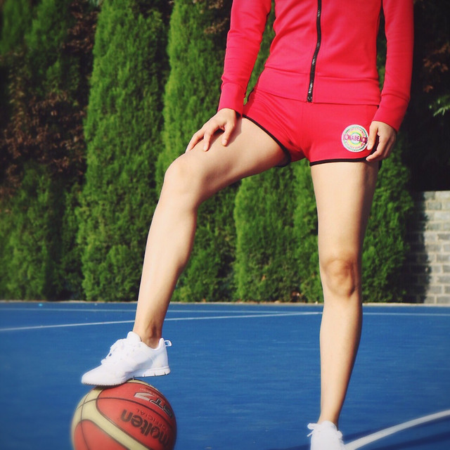 woman-exercise-health-red-footwear picture material