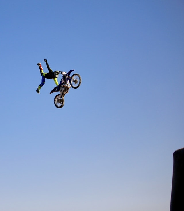 sky-motorcycle-extreme-stunt-bike-wheel-sport picture material