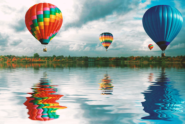 balloon-floating-hot-air-balloon-air-helium picture material