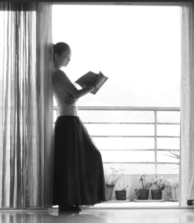 window-indoors-people-adult-woman picture material