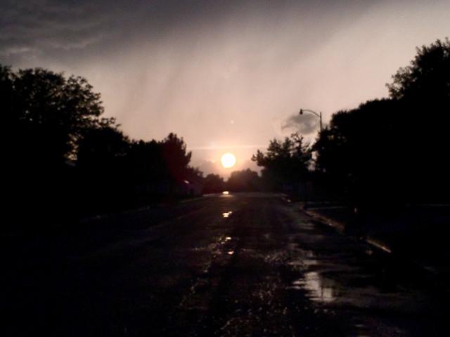 sunset-dawn-landscape-light-sun picture material