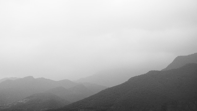 fog-landscape-mountain-mist-sunset 图片素材