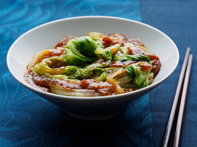 粤菜:蚝油生菜 图片素材